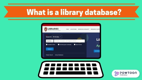 Thumbnail for entry What is a database?