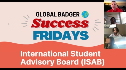 Thumbnail for entry Global Badger Success Friday with the International Student Advisory Board
