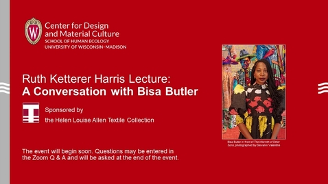 Thumbnail for entry Ruth Ketterer Harris Lecture 2021: A Conversation with Bisa Butler