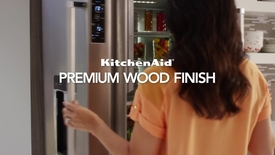 Thumbnail for entry Premium Wood Finish - Feature & Benefit - KitchenAid Counter Depth Refrigeration