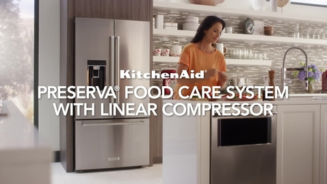 Thumbnail for entry Preserva Food Care System With Linear Compressor - Feature & Benefit - KitchenAid Counter Depth Refrigeration