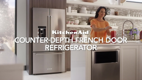 Thumbnail for entry Counter-Depth French Door Refrigerator - Feature & Benefit - KitchenAid Refrigeration