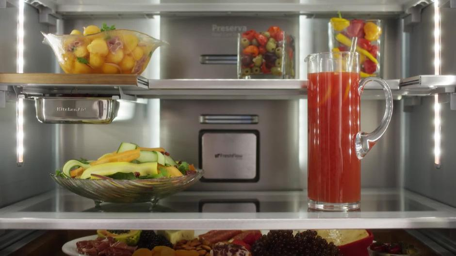 Slide Away Shelf   Feature U0026 Benefit   KitchenAid Counter Depth  Refrigeration