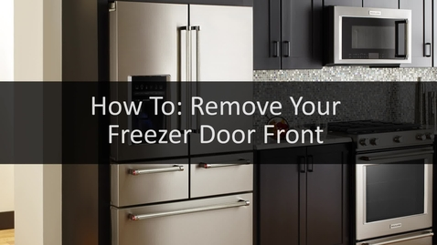 Thumbnail for entry How To: Remove Your Freezer Door Front