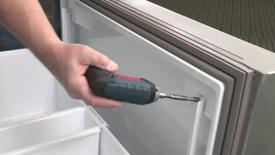 Thumbnail for entry Built-In Refrigerator removing Freezer Door Front
