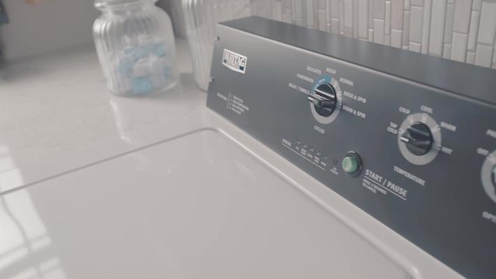 Commercial-grade Maytag® washer built for your home laundry room