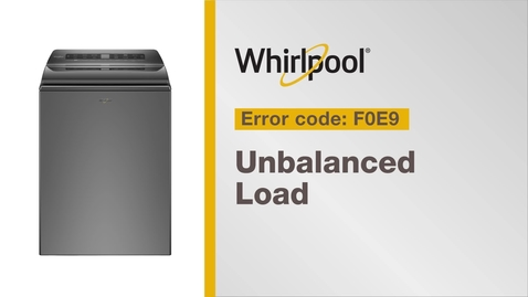Thumbnail for entry Resolving Error Code F0E9 from Whirlpool Brand®
