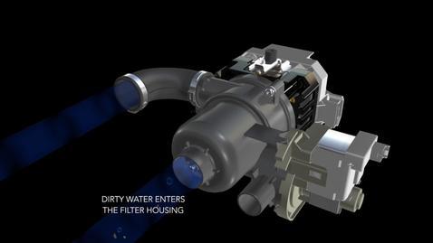 Clean Water Wash Filtration Animation - KitchenAid Dishwasher