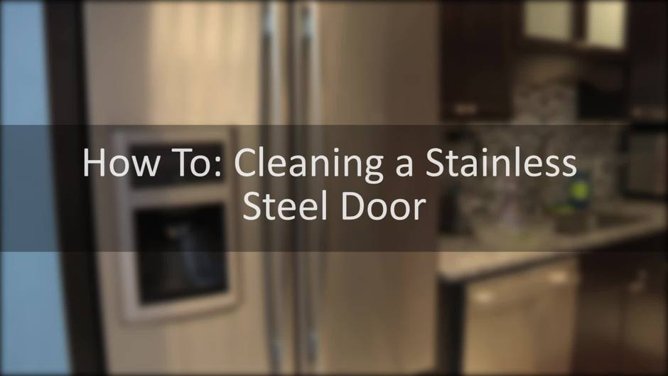 How To Clean A Stainless Steel Appliance Door