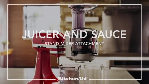 Thumbnail for entry Juicer and Sauce Stand Mixer Attachment - KitchenAid