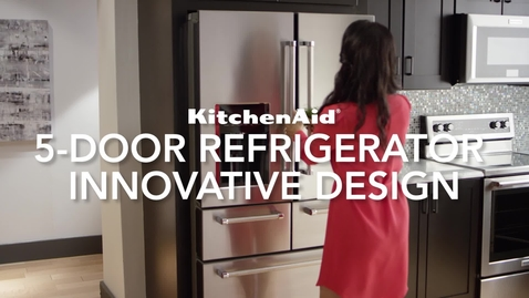 Thumbnail for entry 5-Door Refrigerator Innovative Design - KitchenAid Brand