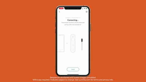 Thumbnail for entry Connect with ease — Yummly® Smart Thermometer