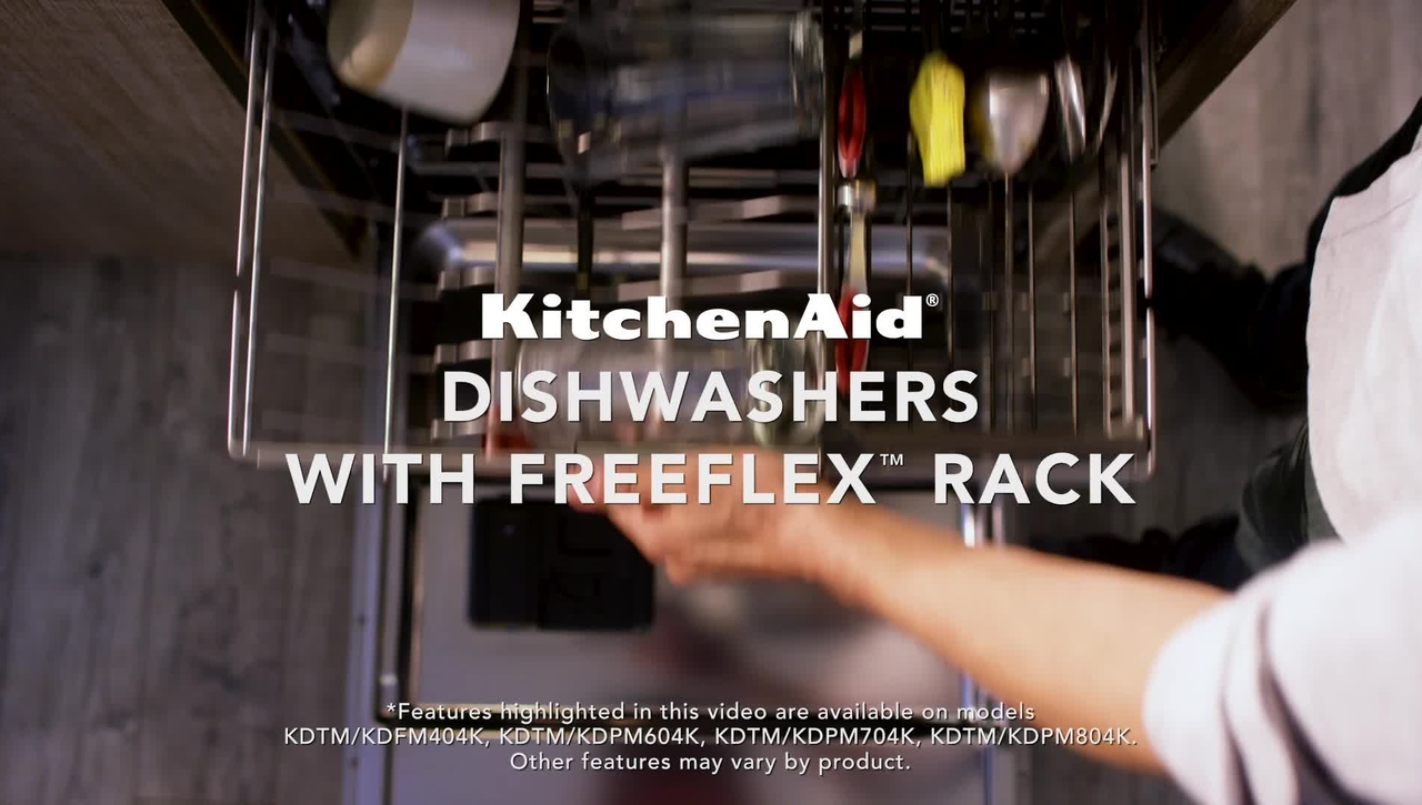 Loading Versatility with the KitchenAid® FreeFlex™ Third Rack Dishwashers