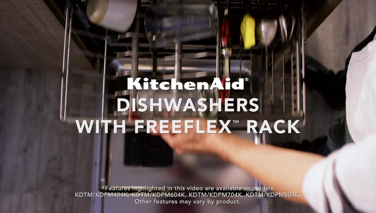 Loading Versatility with the KitchenAid® FreeFlex™ Third Rack Dishwashers