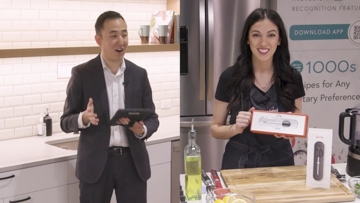 Professional Chef cooks Salmon with the Yummly® Smart Thermometer