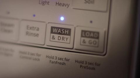 Thumbnail for entry Keep laundry moving with the Wash & Dry option on Whirlpool® Front Load Washers