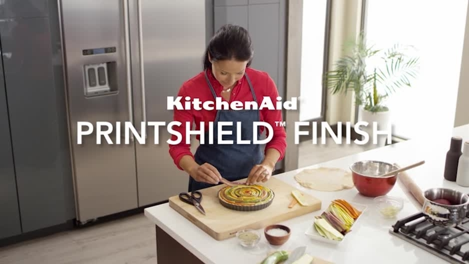 video thumbnail for printshield finish on builtin kitchenaid brand