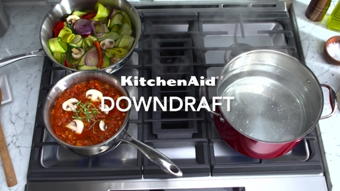 Thumbnail for entry KitchenAid Cooking - Slide-In Downdraft