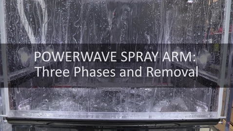 Thumbnail for entry Wash Action and Removing Wash Arm