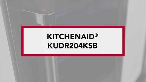Thumbnail for entry Stylish, Double Drawer Configuration — KUDR204KSB