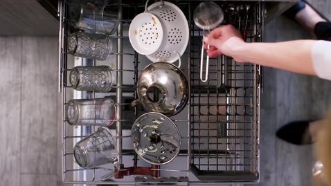 Thumbnail for entry Meet the FreeFlex™ Third Rack - KitchenAid® Dishwashers