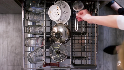 Thumbnail for entry Meet the FreeFlex™ Third Rack - KitchenAid® Dishwashers
