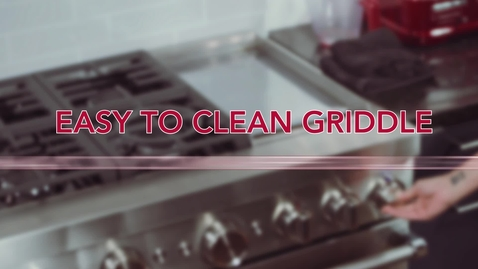 Thumbnail for entry Easy to clean griddle - KitchenAid® Commercial-Style Ranges
