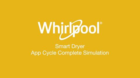 Thumbnail for entry Smart Dryer Cycle Complete - Whirlpool® App