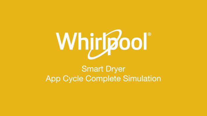 Smart Dryer Cycle Complete - Whirlpool® App