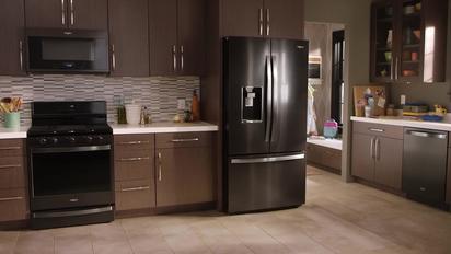 Video Thumbnail For Fingerprint Resistant Black Stainless Steel By Whirlpool Brand