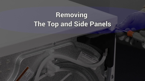 Thumbnail for entry Compact Dryer Remove top and side panels