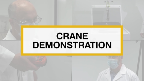 Thumbnail for entry Test Technicians run the 2 in 1 Crane Demonstration