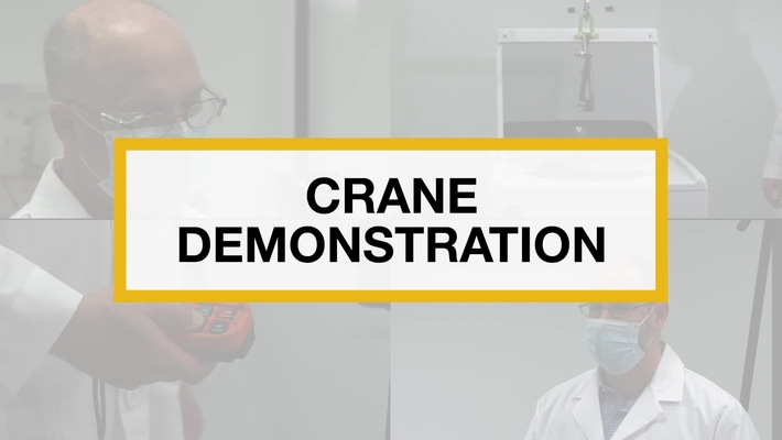 Test Technicians run the 2 in 1 Crane Demonstration