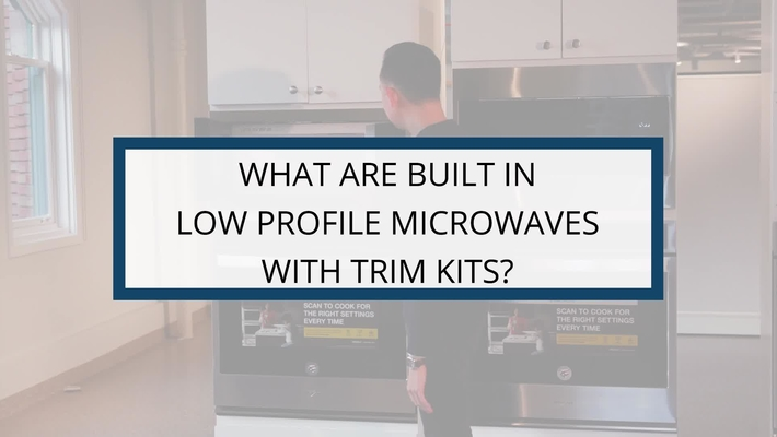 What are Built-in Low Profile Microwaves with Trim Kits?