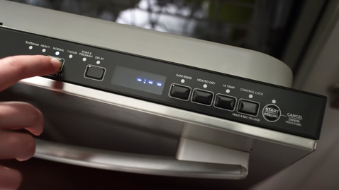 Thumbnail for entry Fully Integrated Console - Amana Dishwasher