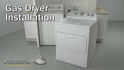 Thumbnail for entry Whirlpool Gas Dryer Installation WGD49STBW2