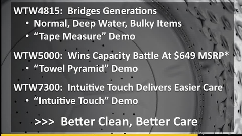 Thumbnail for entry Top Load Laundry One Minute Sales Pitch - Advantage Live - Whirlpool Brand