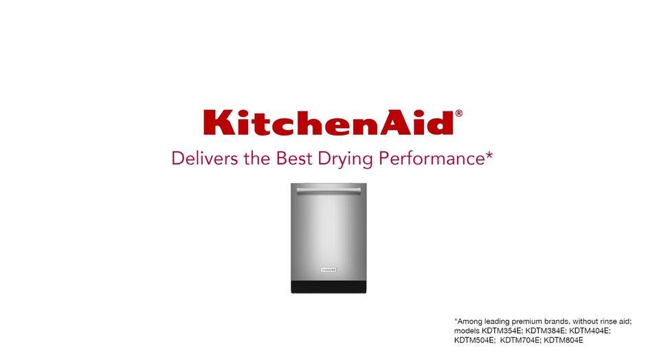 Video Thumbnail For KitchenAid Dishwasher Vs Another Dishwasher   Drying