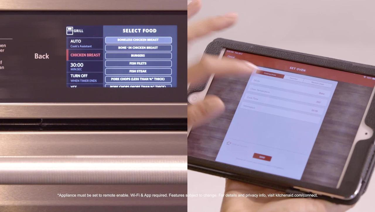 App Functionality with the KitchenAid® Smart Oven+