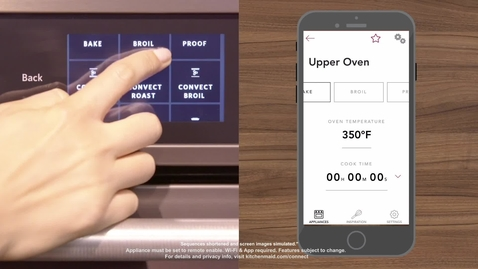 Thumbnail for entry App Functionality with the KitchenAid® Smart Oven+