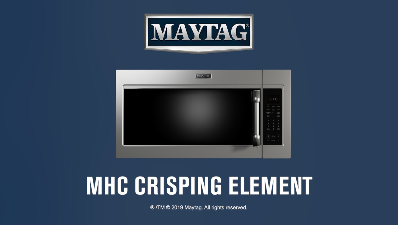 Maytag® Microwaves offer reliable performance, crispy results with Calrod Element
