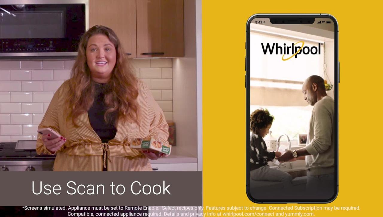 Multitask with the updated Whirlpool® App in the kitchen