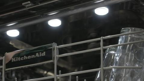 Thumbnail for entry LED Lighting Feature & Benefit - KitchenAid Dishwasher