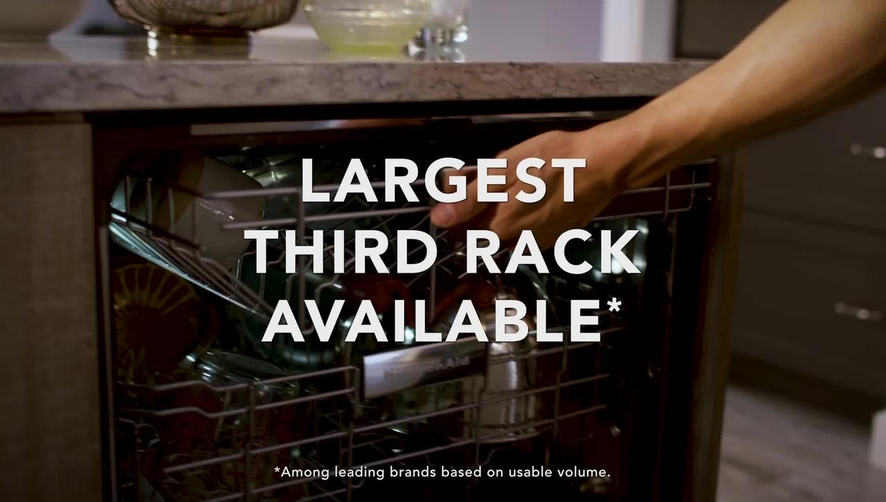 Loading Possibilities with the KitchenAid® FreeFlex™ Third Rack Dishwashers