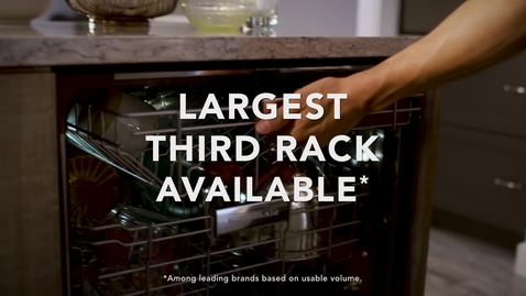 Thumbnail for entry Loading Possibilities with the KitchenAid® FreeFlex™ Third Rack Dishwashers