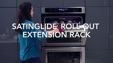 Thumbnail for entry Wall Oven - SatinGlide Roll-Out Extension Rack - KitchenAid Brand