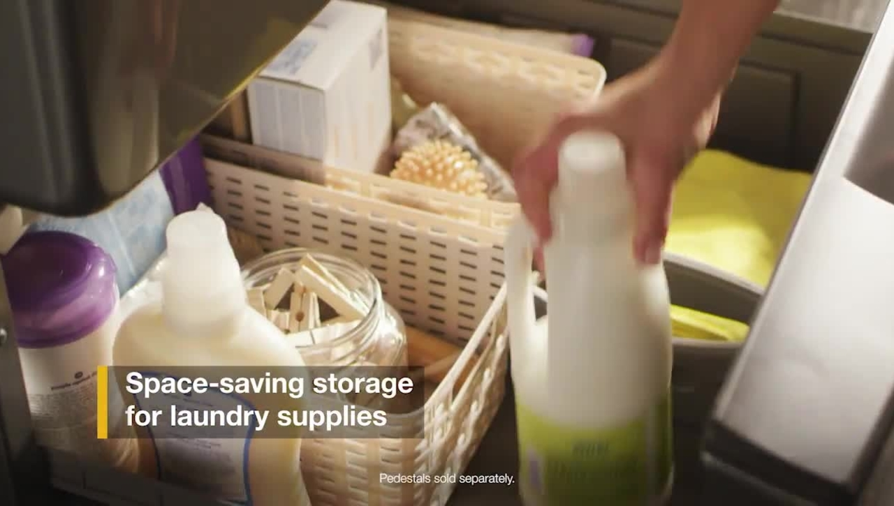 Space-Saving Pedestals - Whirlpool® Front Load Laundry
