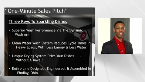 """Thumbnail for entry KitchenAid® Diswasher One-Minute """"Sales Pitch"""" - Advantage Live"""