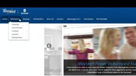 Thumbnail for entry Video Center Navigation - Whirlpool Corporation