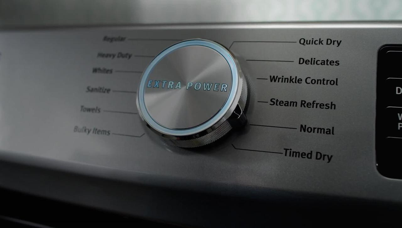 Boost Drying Power with the Extra Power Button on Maytag® Dryers